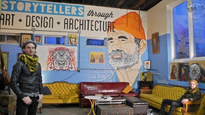BroCoLoco Scales brothers bill murray zissou street art